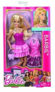 Barbie Life in the dreamhouse 2 Outfits Doll has Rooted Eyelashes