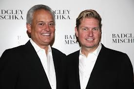 Designers Mark Badgley (L) and James Mischka