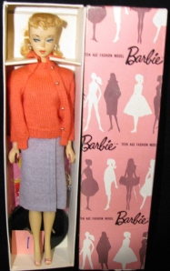 No.1  Barbie doll Sweater Girl 1959 #876 MIB