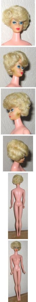 1967 blonde Sidepart Bubble Cut Barbie pink skin