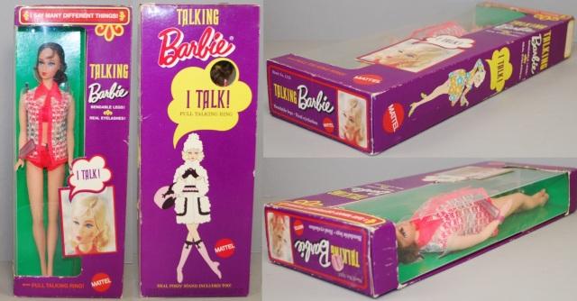 1970 #1115 Talking Barbie Brunette NTFB