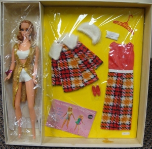 1971 Perfectly Plaid Talking Barbie - Sears Exclusive NRFB inside