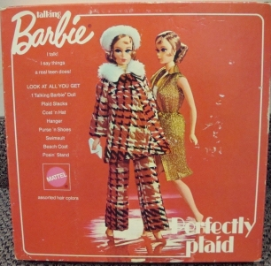 1971 Perfectly Plaid Talking Barbie - Sears Exclusive NRFB