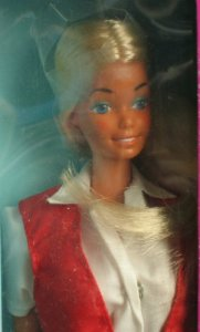 1984 Barbie & Ken Camping Out gift set face