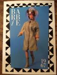 1990 Mattel Barbie Trading Card 1st Edition 278 1967 Braniff Boarding Outfit