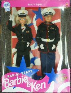 1992 Marine Corps Barbie and Ken Deluxe Set