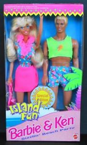 1993 Island Fun Barbie & Ken