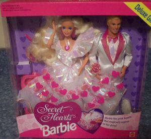 1993 Sam's Club Secret Hearts Barbie and Ken