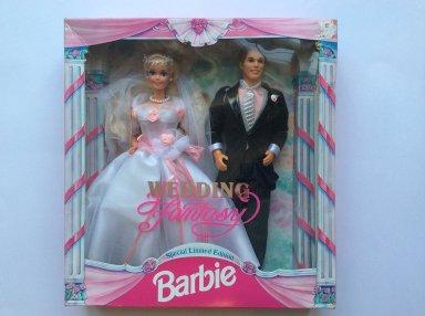 1993 Sam's Club Wedding Fantasy Barbie & Ken gift set