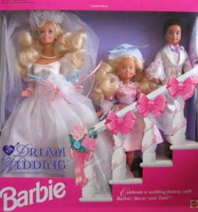 1993 Toys R Us Dream Wedding African-American with Barbie, Stacie and Todd