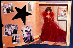 1994 Scarlett O'Hara in red gown i