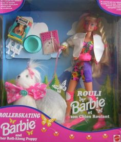 1994 Zeller's Roller-Skating Barbie and her Roll-Along Puppy