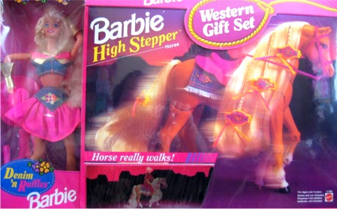 1995 BJ's Club Denim N Ruffles with High Stepper gift set