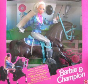 1995 Hill's Barbie & Champion gift set