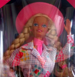 1996 BJ's Club Barbie & Nibbles Horse gift set.jpg face