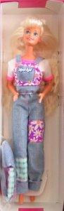 1996 Kool-Aid Wacky Warehouse denim overalls
