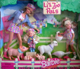 1998 Little Zoo Pals gift set with Stacie and Kelly