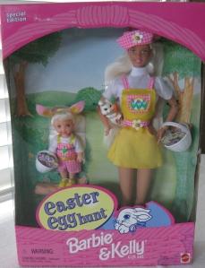 1998 Target Easter Egg Hunt Barbie and Kelly gift set