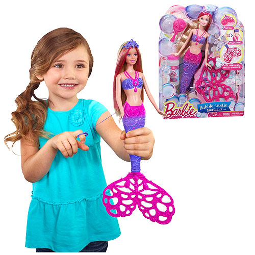 2015 Barbie Bubble-Tastic Mermaid Bubble-Making Doll
