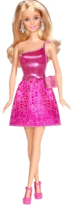 2015 Barbie Glitz Doll in Pink Party Dress