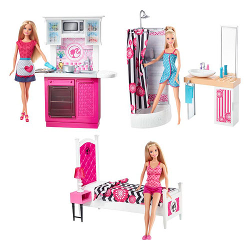 2015 Barbie Home Design Doll Playset