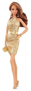 2015 City Shine™ Barbie® Doll - Gold Dress