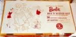 857`MIX N MATCH Gift Set~BarbieBubbleCut~Brunette~NRFB~boxBack