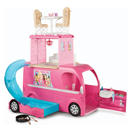 Barbie and Her Sisters in The Great Puppy Adventure camper
