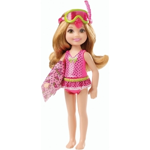 Barbie - Chelsea and Friends with Snorkel Mask and Watermelon-Decorated Towel