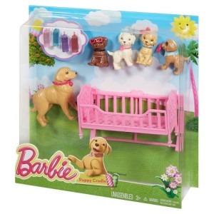 Barbie Chelsea & Puppy Cradle Playset n