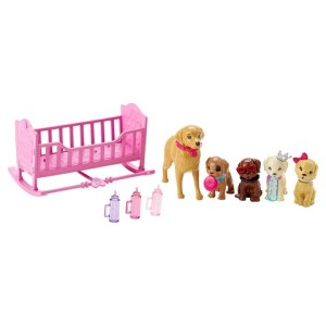 Barbie Chelsea & Puppy Cradle Playset