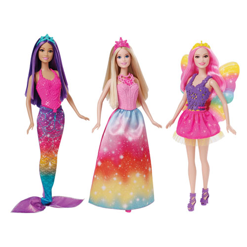 Barbie Fariytale Doll 3-Pack