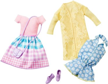 Barbie Fashion Pack 2-Pack, Somewhere Over the Gingham Rainbow fl