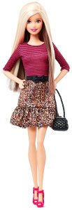 Barbie Fashionista Barbie Doll Leopard Print Skirt d