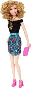 Barbie Fashionistas Party Glam Doll 6 Blond Permed Hair d