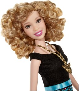 Barbie Fashionistas Party Glam Doll 6 Blond Permed Hair f