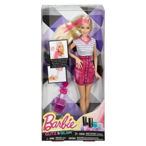 Barbie Glam Hair and Nail Doll - Pink n