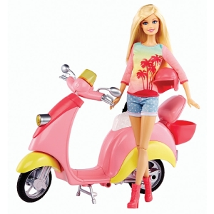 Barbie - Glam Scooter with Barbie doll