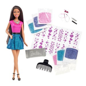 Barbie Glitter Hair African American Doll