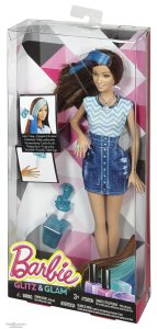 Barbie Glitz & Glam Hair and Nail Doll Blue nrfb