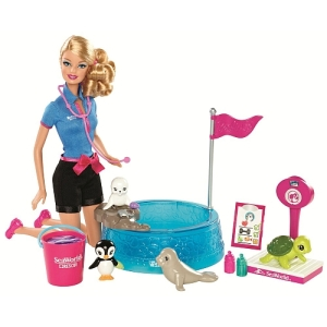 Barbie - I Can Be - SeaWorld Baby Animal Rescuer Doll