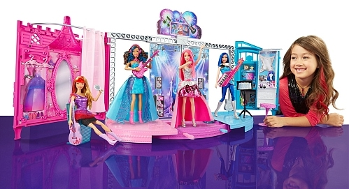 Barbie in Rock n' Royals Trasnforming Stage Playset