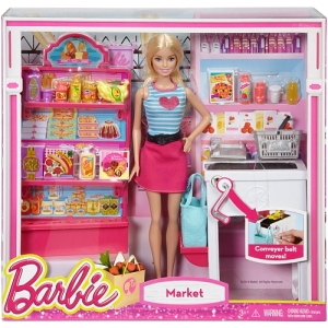 Barbie Malibu Ave Grocery Store with Barbie Doll Playset n