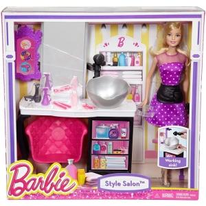 Barbie Malibu Ave Salon with Barbie Doll Playset n