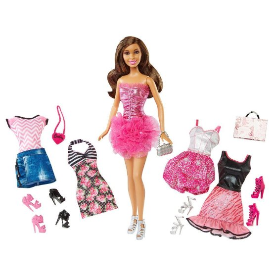 Barbie Malibu Avenue Nikki Doll & Fashion Giftset