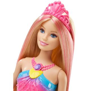 Barbie Rainbow Lights Mermaid Doll face
