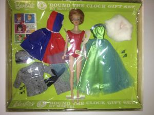 Barbie 'Round the Clock Gift Set NRFB, 1963 inside