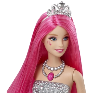 Barbie™ in Rock 'n Royals Courtney™ Doll - Spanish Language face