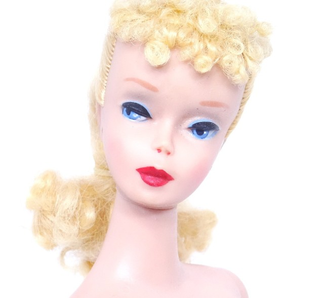 Blonde #4 Ponytail Barbie Doll face