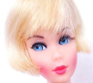Blonde Hair Fair Barbie Head